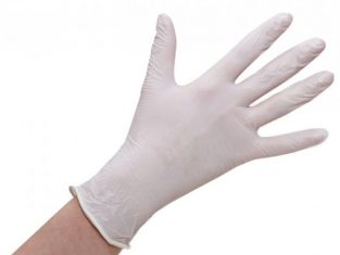 white nitrile gloves