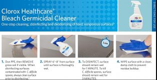 clorox healthcare instructions