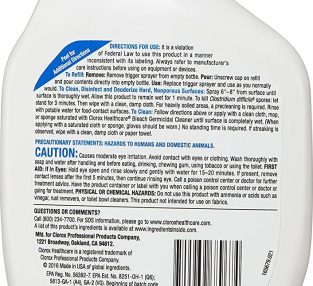 clorox bottle back label